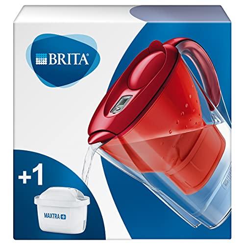BRITA Carafe filtrante Marella rouge - 1 filtre MAXTRA+ inclus