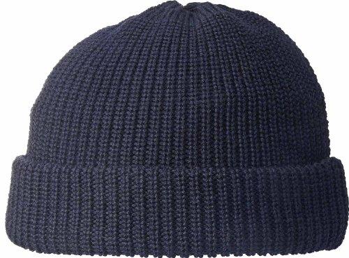 Fiebig Mütze in 100% Wolle Seewasserfest!, Farben:marine
