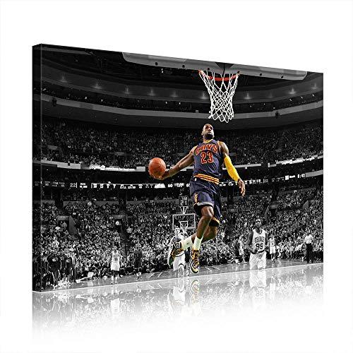 NBA Cleveland Cavaliers Lebron James Canvas Prints Poster Picture New Home Decor Men's Cave Gift (prints13,30x50cm)