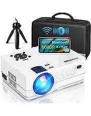 1080P プロジェクター Bluetooth WiFi 小型 プロジェクター スマホ対応 双方向Bluetooth 8000lm