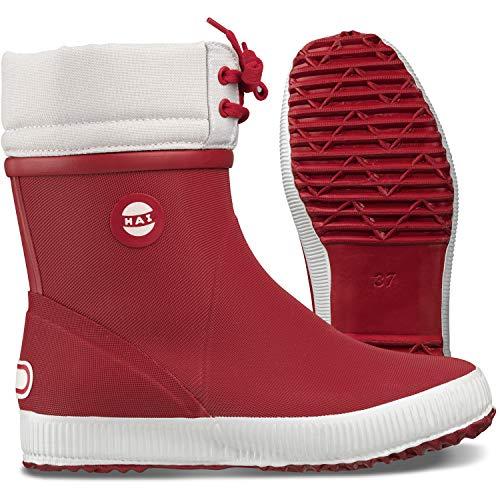 Nokian Footwear Hai Winter Wadenhohe Wintergummistiefel für Damen und Herren handgefertigt aus Naturkautschukmischung, Rot, 41 EU