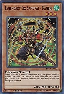 Legendary Six Samurai - Kageki - SPWA-EN043 - Super Rare - 1st Edition - Spirit Warriors (1st Edition)