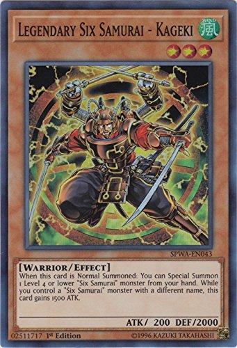 yu-gi-oh Legendary Six Samurai - Kageki - SPWA-EN043 - Super Rare - 1st Edition - Spirit Warriors (1st Edition)