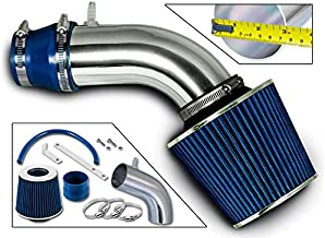 Rtunes Racing Short Ram Air Intake Kit + Filter Combo BLUE Compatible For 12-15 Kia Rio / 11-13 Hyundai Accent 1.6L / 12-13 Hyundai Veloster Gdi 1.6L Engine / 11-13 Hyundai Elantra 1.8L …