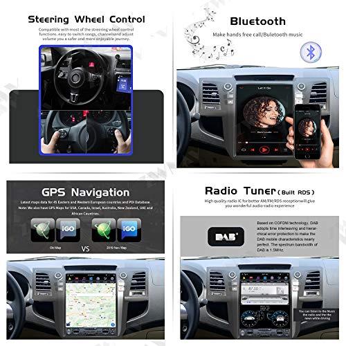 ZWNAV 128GB ROM Android 9.0 Tesla Car Stereo for Toyota Fortuner HILUX Revo 2005-2015, HD Touch Screen, Car GPS Navigation Head Unit, Carplay, GPS Nav Head Unit (4G RAM 128GB ROM Android 9 Carplay)