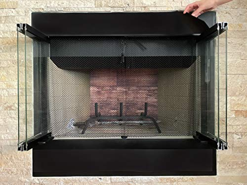 """Magnetic Vent Cover for Fireplace, Draft Stoppers, Black Magnet Sheets for Fireplace Vents - Black 2 PCs Each 4.75"""" x 37"""" Thickness: 30 mils - Insulation and Draft Protection Keep Cold Air Out"""