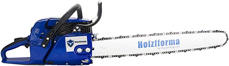 """72cc Holzfforma Blue Thunder G388 Gasoline Chain Saw Power Head WT 3/8 .063 25"""" 84 DL Guide Bar & 3/8 .063 25"""" 84 DL Full Chisel Saw Chain All Parts are Compatible 038 038 AV 038 MS380 MS381 Chainsaw"""