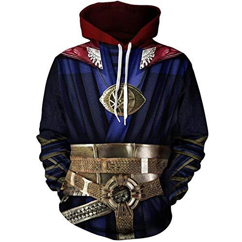 Super Hero Hoodie Super Hero Costume Creative Fashion Sweater Halloween Costume (XXL, Doctor)
