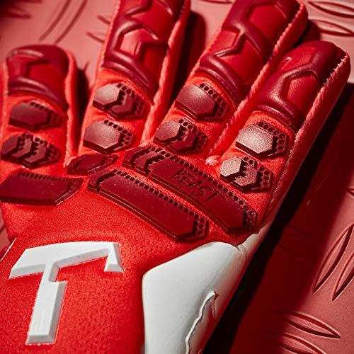T1TAN Red Beast 2.0 Torwarthandschuhe mit Fingerschutz, Fußballhandschuhe Herren & Erwachsene - 4mm Profi Grip - Gr. 10 - 3