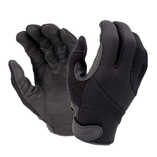 HATCH SGK100 Street Guard Cut-Resistant Tactical Police Duty Glove with Kevlar - Black, Medium