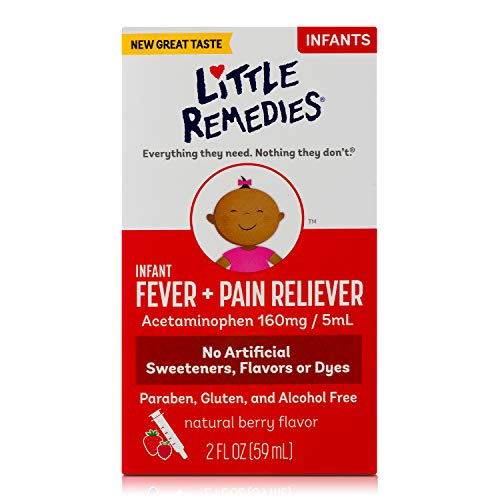 LittleRemedies Infant Fever & Pain Reliever withAcetaminophen| Berry| 2 FL OZ
