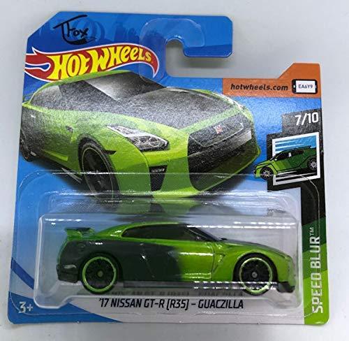 2019 Hot Wheels \'17 Nissan GT-R (R35) - Guaczilla Green 7/10 Speed Blur 61/250 (Short Card)