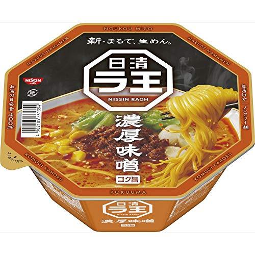 日清 ラ王 濃厚味噌 118g ×12個