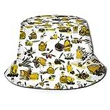NA Sombreros de Cubo, Gorro de Pescador de Aceite de Oliva, elástico sin Bola Sombrero de Cubo Elegante único para Trotar