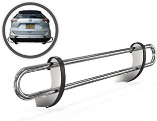 VANGUARD VGRBG-1016SS For Nissan Rogue 2014-2019 Rear Bumper Guard Stainless Steel Double Tube Style