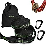 Gkotta Hammock Straps XL with 2 Carabiners, 20 FT Long 32 Adjustable Loops, Holds up to 1000 Lbs Each Strap, Tree Safe, Ultralight, Easy Use and Fits All Hammocks