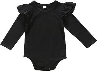 Patchwork Coton Stitch Nouveau-n/é B/éb/é Tatouage Manches Lettre Tatouage Imprim/é /À Manches Longues V/êtement Costume Posional T-Shirt Bodysuit Combinaison 12Mois-6Ans Blanc,Noir
