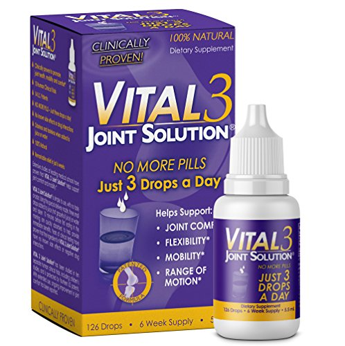 Vital 3 Joint Solution Clinically Proven Liquid Knee Relief Supplement Biologically Active Fragments of Collagen Type II-n1 Supports Joint Flexibility and Mobility