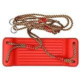 STOBOK Schaukelsitz Set Hängende Baumschaukeln Kunststoff Verstellbare Schaukel Spielzeug mit Seil Outdoor Sport Spielzeug Kinder Geschenk Rot