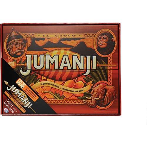 Editrice Giochi Spin Master Games Jumanji, Edizione in Legno, il Classico Gioco Vintage Anni '90, 6045571