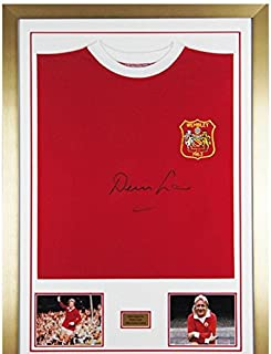 Signed Denis Law Man Utd 1963 Cup Final Shirt Manchester United PROOF and COA - Autographed Soccer Jerseys