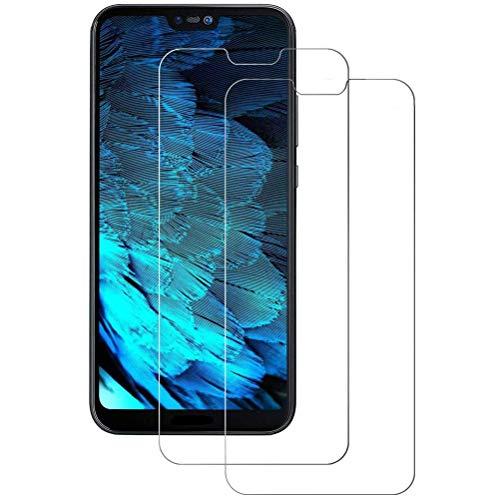 Mkej Vetro Temperato Huawei P20 Lite Pellicola, [2 Pezzi] HD Alta Trasparenza Senza Bolla Pellicola Protettiva di Vetro, Screen Protector [Resistenza ai Graffi] 3D Copertura Vetro Protettivo