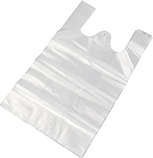 "Morcte Clear Plastic Thank You Shopping Bags, Handled Plastic T-Shirt Bags, Grocery Bags, 800 Counts/Box, 11.81"" x 18.9"""