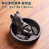 Accesorios para juegos de té Zisha té mascota rata juego de té decoración hogar juego de té de cerámica accesorios pueden elevar ratón mascota mesa de té decoración de la mesa de té-arena púrpura jug