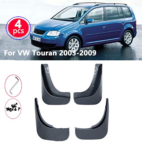 mlzaq Für VW Touran Caddy 2004-2010 Vordere hintere Kfz-Schlammklappen Mud-Flamms Splash Guards Schlammklappe...