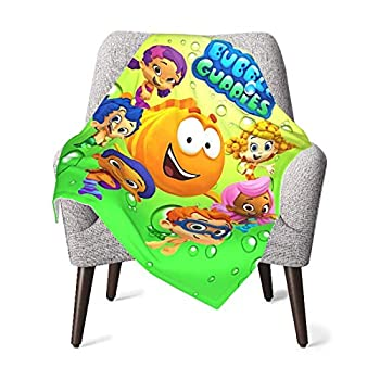 GIPHOJO Bubble Guppies Soft Toddler Quilt Kids Lightweight Baby Ultra-Soft Micro Fleece Throw Fuzz Hypoallergenic Plush for Crib Nursery Receiving Blanket,Black,One Size