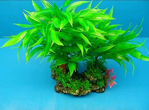 Fish Aquariums Plastic Plant Large w All items in the store trend rank Heavy 7047 Base Rock 12