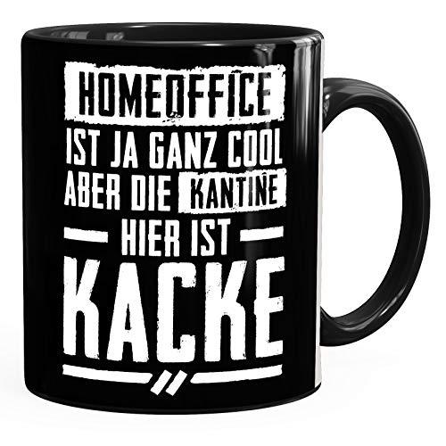 MoonWorks® Kaffee-Tasse Spruch Home-Office cool Kantine Kacke Bürotasse lustige Kaffeebecher schwarz unisize