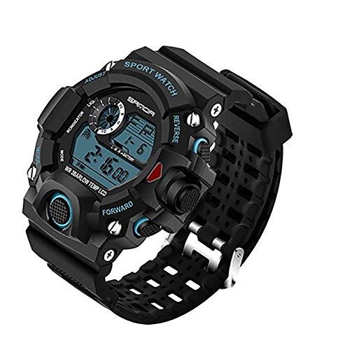 LMST Herren-Sportuhr, modische Armbanduhr, Taucheruhr, Sport, LED, Digital, wasserdicht, N00U1250J8RSI, schwarz/blau