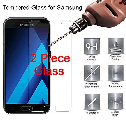 AHHMT 2 Piezas, para Galaxy J7 Plus Nxt MAX Duo, para Samsung J7 J5 J2Core Vidrio Templado 9H HD Protector de Pantalla Prime Protective Glass-For J7 Core_1 Piece