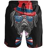 Kaariok Black Dog Hat Gentry Animal Men's Swim Trunks Quick Dry...