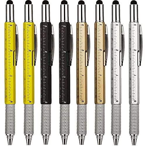KEWAYO Multi Functional Pens-Screwdriver Pen Tool, – Multi-Functional & Measure Pen, With Scale Ruler, Spirit Level, Ballpoint Pen, Stylus & Small Screwdriver Set