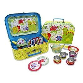 Lucy Locket Set da tè con bruco (set cucina giocattolo, cucina bimbi, giochi cucina per bambini) (s