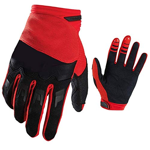 Dihope - Guanti da ciclismo, antiscivolo, antivento, impermeabili, anti-freddo, per sport, corsa, jogging, moto, escursionismo, pesca rosso XL