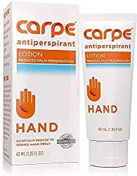 Carpe Antiperspirant Hand Lotion, A dermatologist-recommended, non-irritating, smooth lotion that helps stops hand sweat,