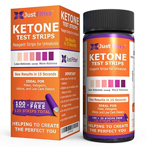Urinalysis Ketone Keto Urine Test Strips. Test delle analisi chetoniche delle urine per livelli di chetoni a basso contenuto di carboidrati