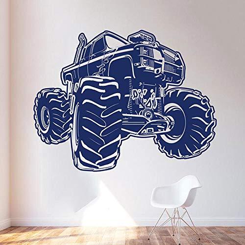LKW Auto Motorsport Wandaufkleber Dekoration Jungenzimmer Spielzimmer Aufkleber Cartoon Wandbild