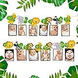 JeVenis Jungle Gold Bannière de photo mensuelle Wild One Bannière de photo mensuelle Safari Première bannière d'anniversaire