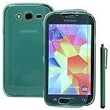 ANNART Carcasa Silicona Gel Cartera Tipo Libro Solapa para Samsung Galaxy Gran Plus / Neo I9060 + Lápiz Óptico - Verde