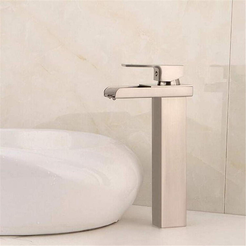 Kitchen Brass Bathroom Retro Sink Faucet Single Handle Waterfall Bathroom Mixer Deck Mount Hot Cold Water Tap Bathroom Faucet