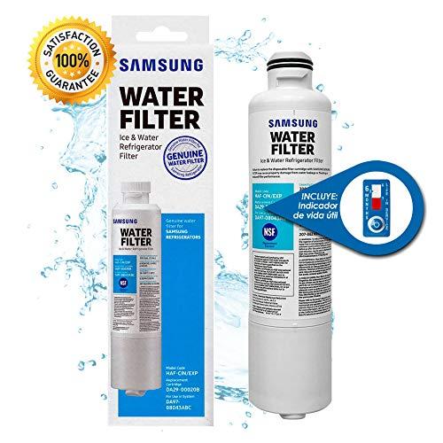 Filtro de Agua Samsung DA2900020B Original para Refrigerador | Substituye DA29-00020A, DA29-00020B| Incluye Garantía y Cronómetro para monitorear tu filtro |...
