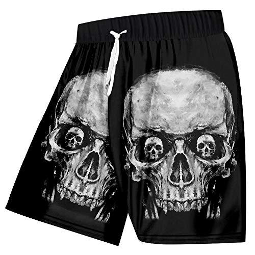 Short Homme Hommes Casual Shorts Beau Crâne 3D Imprimé Mode Slim Hip Hop Street Shorts-3_4XL