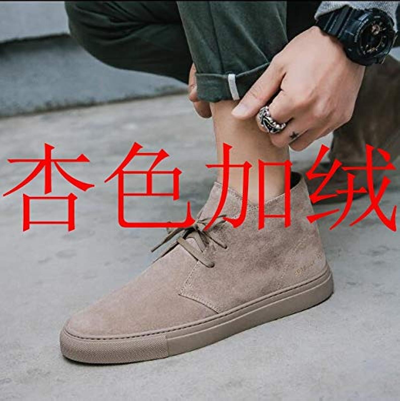 ZyuQ Herrenstiefel Herrenschuhe Sportschuhe Mode Pu Verdickung In Die Schuhe Schuhe Martin Schuhe Stiefel Männer  | Ausgezeichnet (in) Qualität