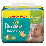 Lot de 76 couches Pampers Baby Dry Taille 4 + (Maxi +) emballage jumbo