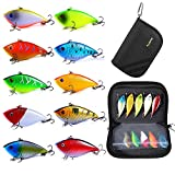 PLUSINNO Fishing Lures Set included 10pcs rattle trap lures and a portable bag. which is more convenient and safety for outdoor fishing.10 different color rat l trap lures, each jackall lures in 2.76inch length, 0.38oz weight Brilliant Colors: 10 dif...