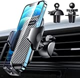 [2021 Upgraded] VANMASS Car Vent Phone Holder Mount Compatible for iPhone 13 Pro Max 12 11 X Xr Xs 8 7 Plus Mini Se Android Mobile Cell Smartphone Universal Vehicle Handsfree Easy Clamp Clip Cradle